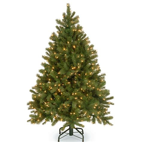 4 or 5 ftrustic christmas trees national tree co downswept douglas 4 5 green fir artificial tree with 300 warm white