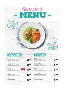 one page menu template 24 restaurant menu templates free sle exle
