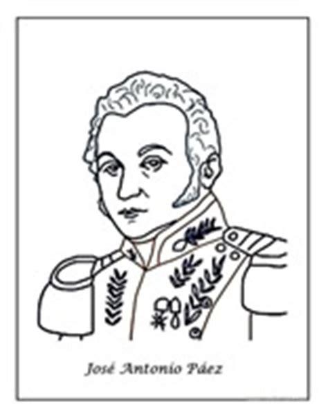 imagenes para colorear jose antonio paez dibujos para colorear independencia de venezuela
