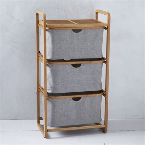 bamboo laundry shelving laundry basket