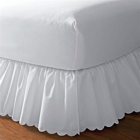 scalloped bed skirt home shop bed basics bedskirts