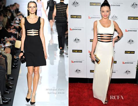 9th annual gday usa los angeles black tie gala michael kors dress miranda kerr in michael kors 9th annual g day usa los