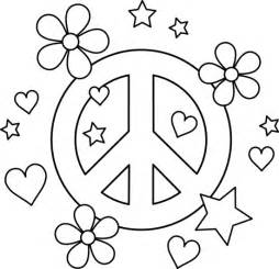 color for peace printable peace sign coloring pages coloring me