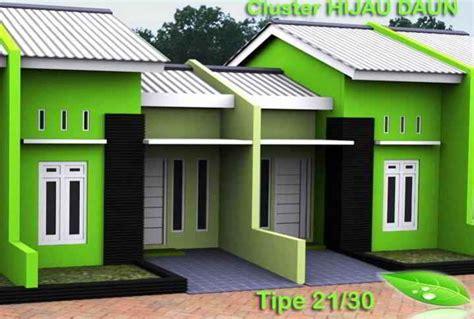 rumah warna hijau stabilo desain minimalis