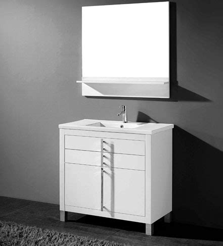 adornus turin 30 inch white modern bathroom vanity free standing all wood cabinet available in