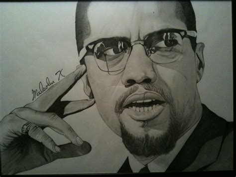 Drawing X by Malcolm X Illustration Pencil On Paper Mr Birthmark Mr