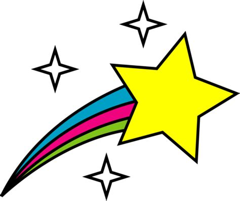 google images yellow star shooting stars clipart black and white clipart panda