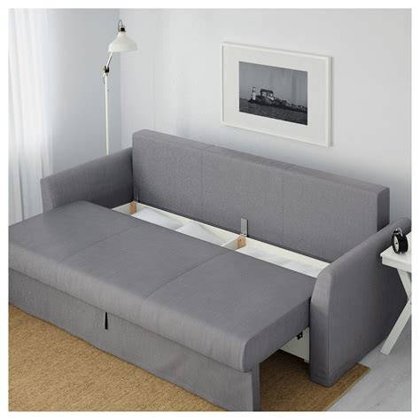 futon bettsofa holmsund three seat sofa bed nordvalla medium grey ikea