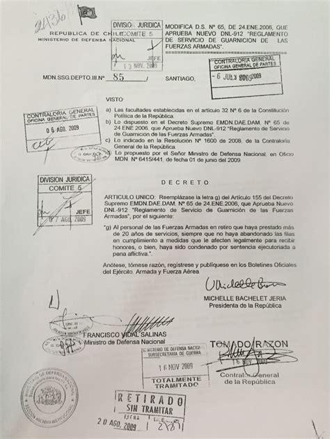decreto 1075 del ao 2015 el reglamento que impide rendir honores a manuel contreras