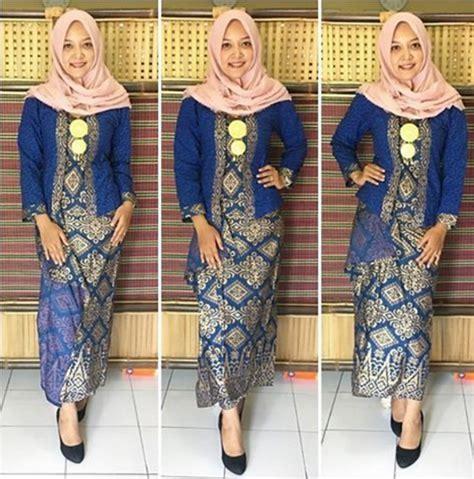 kebaya combinasi songket model kebaya batik muslim dengan beragam warna