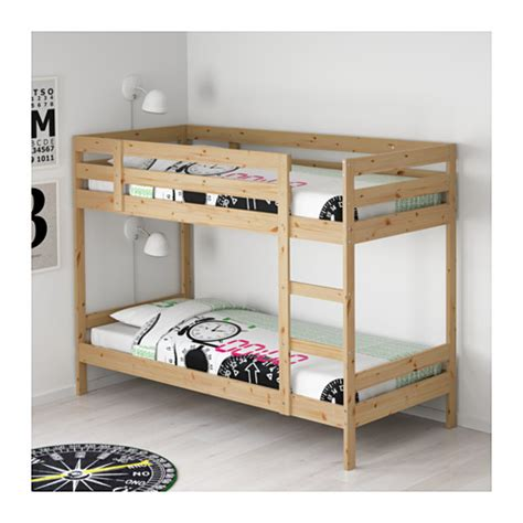 bunked beds mydal bunk bed frame ikea