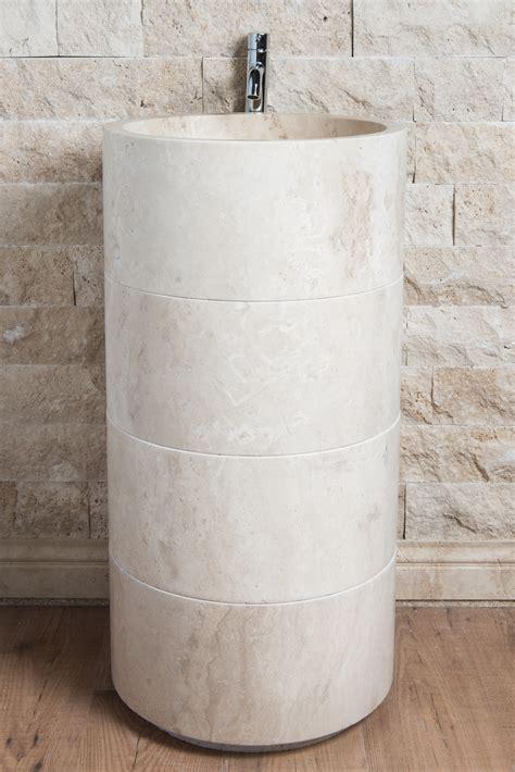 lavello freestanding lavabi da bagno minimali lavandino in marmo
