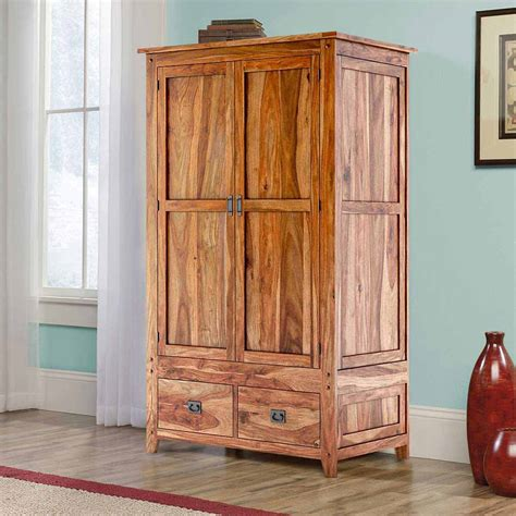 unfinished wood armoire delaware solid wood 2 drawer rustic armoire closet