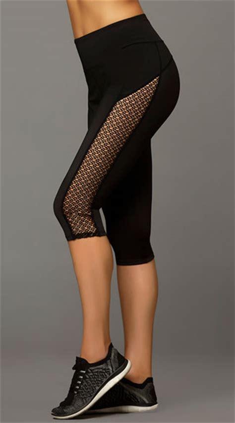 Net Legging by Black Netted Capris Athletic Capris Black Net