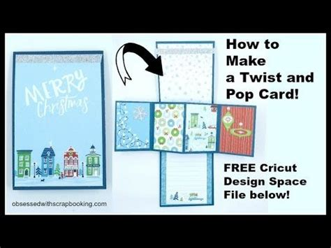 twisting pop up card template free 236 best cricut explore projects images on