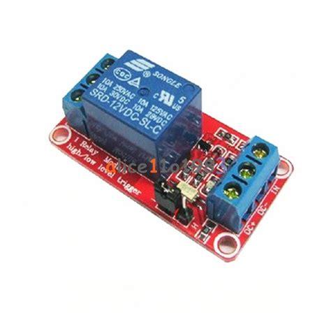 Relay Module Dc 5v 1 Channel High Trigger 1 channel optocoupler relay module support high and low trigger dc 5v 9v 12v 24v ebay