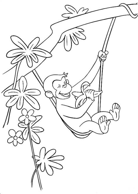 Curious George Coloring Sheets Coloring Pages Curious George Coloring Page