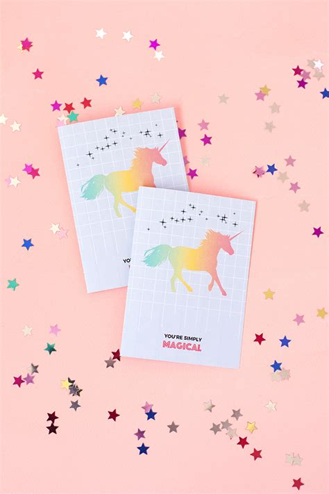 printable birthday cards unicorn printable unicorn greeting card make and tell