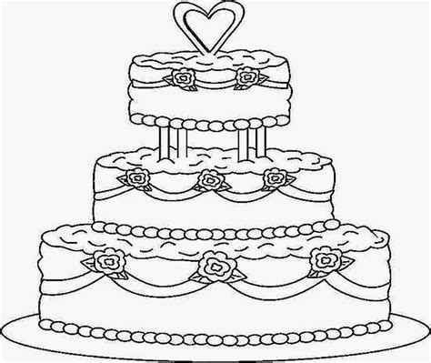 coloring page wedding cake cake printable coloring pages coloring page kids