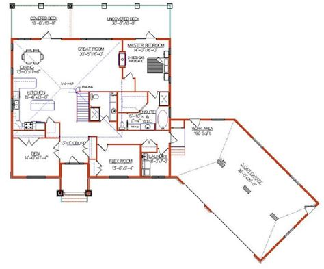 Angled Ranch House Plans by Attached Angled To The Right Garage House Plans