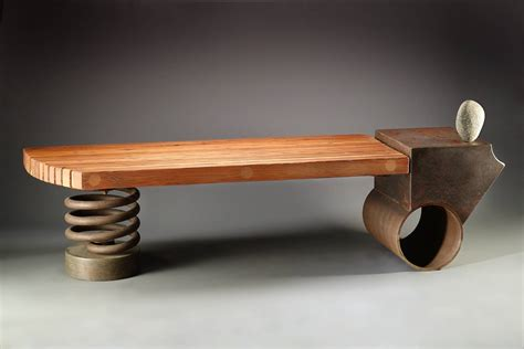 Unique Handcrafted Furniture - bench by derek davis furniture oddities