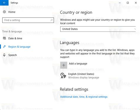 region and language how to change region and home location in windows 10