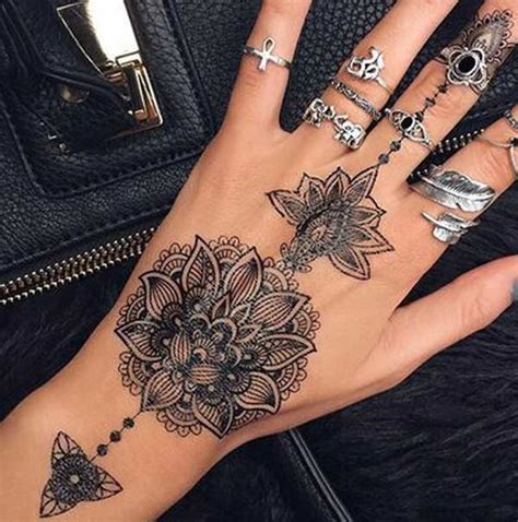 feminine hand tattoos collection of 25 feminine henna designs