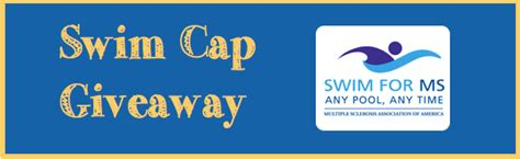 Giveaway Sign Up - swim cap giveaway sign up to swim for ms ms conversations