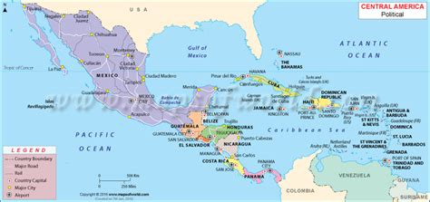 central american map map of cental america my