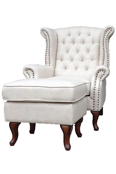wingback chairs with ottoman wingback chair with ottoman