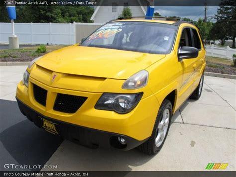 pontiac aztek yellow 2002 pontiac aztek awd in aztec yellow photo no 33254810