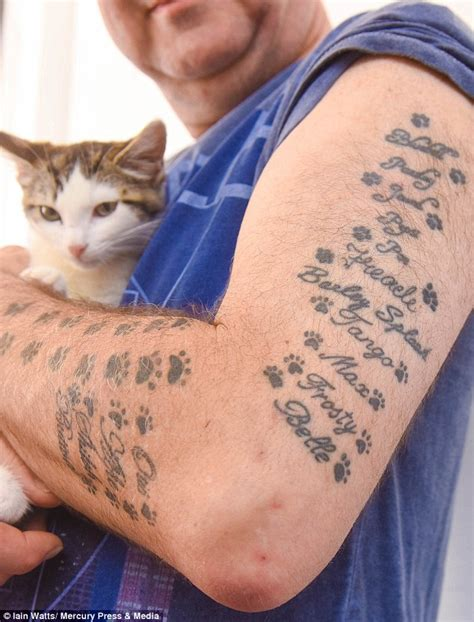 small cat paw tattoos collection of 25 cat and paw print tattoos on arm