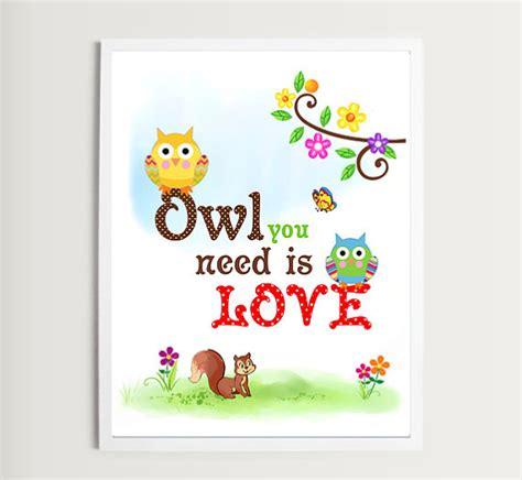 printable owl pictures for nursery printable nursery owl theme wall art decor by lovedecorstudio