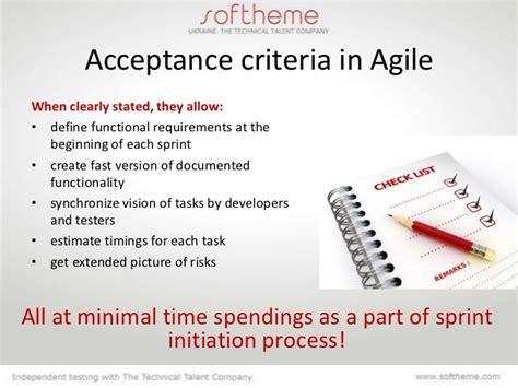 agile acceptance criteria template acceptance criteria