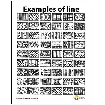 pattern definition principles of art line pattern handout one page elements of art principles