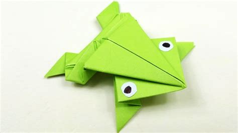 How To Make 3d Origami Animals - how to make a jumping frog origami for beginners 3d