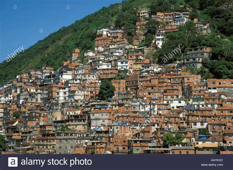 favela brazil slums slum called favela in brazil on morro do pavao hill near