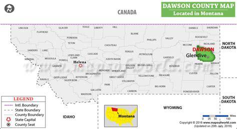gis dawson county dawson county map montana