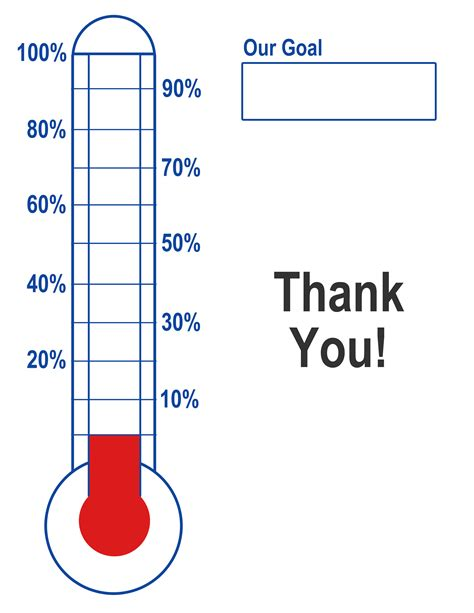 money thermometer template empty charity thermometer template clipart best
