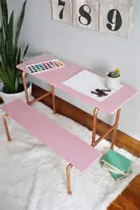 diy copper pipe l stylish diy copper pipe child s desk shelterness