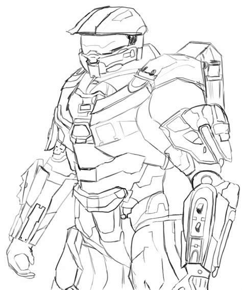 free coloring pages of halo 3 master chief