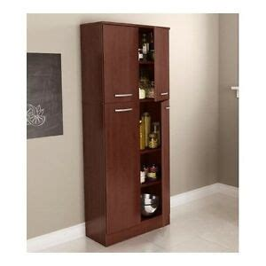 freestanding pantry cabinet for kitchen food pantry cabinet with doors wood free standing kitchen storage cherry ebay