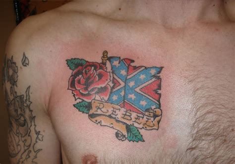 25 magnificent rebel flag tattoos creativefan