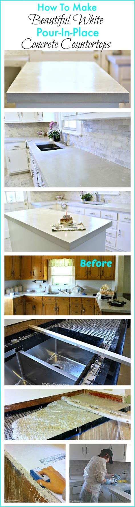 How To Make Concrete Countertops In Place by How To Make Diy Cast In Place White Concrete Countertops