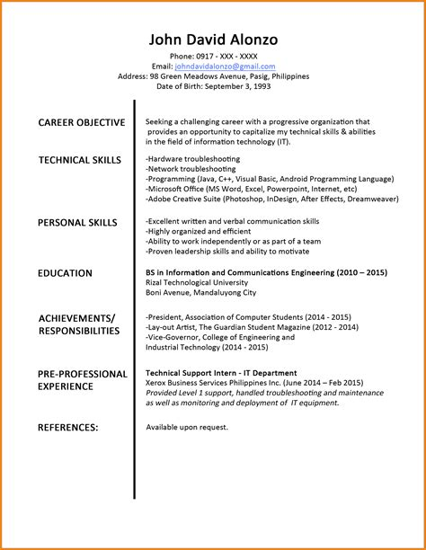 sle resume for fresh graduate teachers pdf 8 cv sle for fresh graduate doc theorynpractice