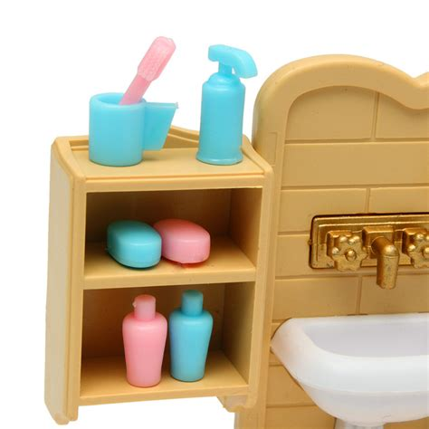 Bathroom Furniture And Accessories Diy Miniatures Bedroom Bathroom Furniture Sets For Sylvanian Family Dollhouse Accessories Toys