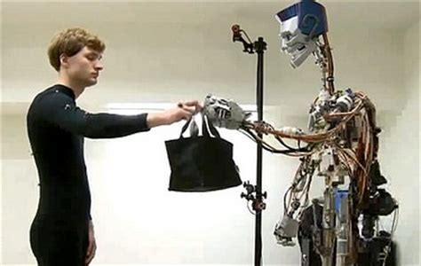 the international research robot hammacher schlemmer robots learn to respond naturally to human interaction
