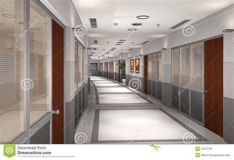 Apartment Hallway 3d modern office hallway stock image image 10197781