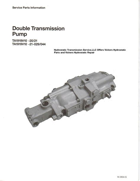 hydrostatic transmission hydrostatic transmission service offers affordable vickers