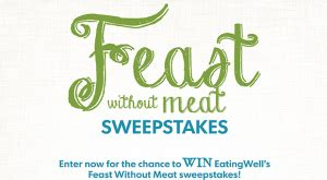 Eating Well Sweepstakes - eating well quot feast without meat quot sweepstakes win a 500 sur la table gift card